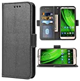 Phone Case for Moto E5/G6 Play/MotoG6 Forge Folio Flip Wallet Case,PU Leather Credit Card Holder Slots Full Body Protection Kickstand Protective Phone Cover for Motorola Moto6 G 6 6G G6Play MotoE5 5E