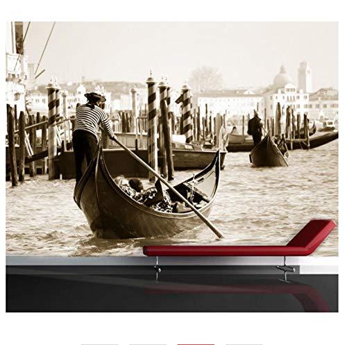 Shuangklei Grote 5D Venetië Stad Papier Muren Natuurlijke Landschap Zwart/Wit 3D Fotobehang voor Woonkamer Achtergrond 3D Muur 450x300cm