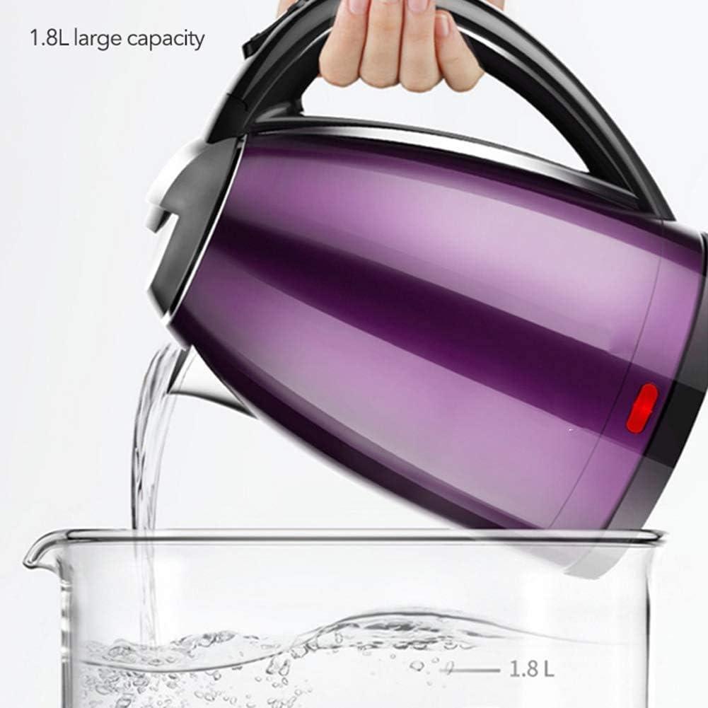 Kettle, 304 roestvrij staal snel verwarmingsketels Double-layer isolatie De elektrische waterkoker,Pink Blue