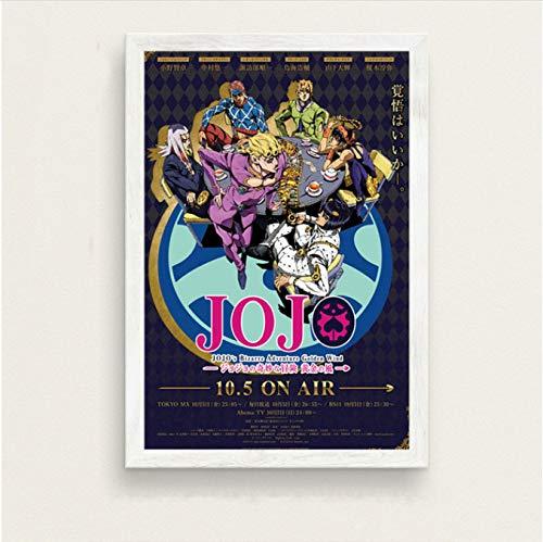 panggedeshoop Creative Mode Moderne De JoJo Bizarre Adventure Hot Japan Anime Art Peinture Soie Toile Affiche Murale Décor À La Maison 40X60 Cm sans Cadre