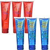 Set of 6 Kidsmania 4oz Ooze Tubes! Oozing Delicious Flavors - Blue Raspberry and Cherry (6)