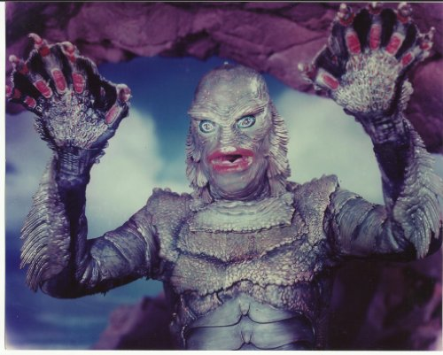 Creature from the Black Lagoon 8x10 Photo the Creature hands up #2