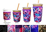 Koverz Neoprene Iced Coffee Sleeve - Insulator Sleeve for Cold Beverages, Neoprene Cup Holder - Compatible with Starbucks & McDonald's Coffee - Large Paisley