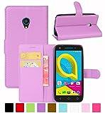 HualuBro Alcatel U5 3G Hülle, Leder Brieftasche Etui