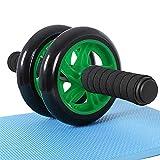 songmics ab roller per fitness allenamento di muscoli addominali e di muscoli di braccio per dimagrimento adatto per uomo donna (verde)