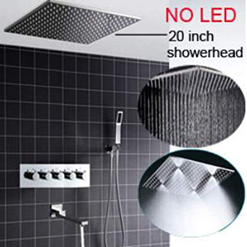 Buy Modern 2019 Thermostatic LED Shower System Ceiling Rain Mist 304 Stainless Steel Shower Head 20 ...