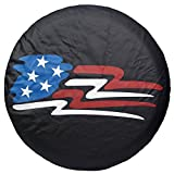 Spare Tire Cover 14 inch, Tires Wheel Cover Black for RV Trailer Camper Motorhome Jeep Wrangler Honda Toyota BMW, 14' 15' 16' 17', PVC Leather (14' for Tire Diameter 23'-27')