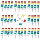 Anpro 200 Markierungsfahnen Markierfähnchen Markierungsnadeln für Weltkarte Pinnwand, Bunt, EINWEG