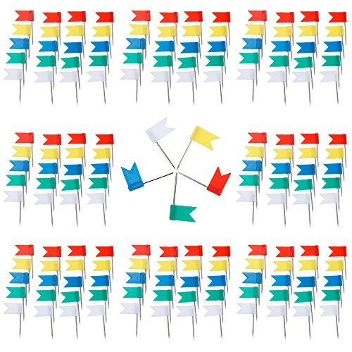 Anpro 200 Piezas Color Bandera uñas mapas