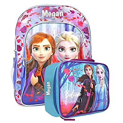 Personalized Licensed Disney's Frozen Character Backpack - 16 Inch (Autumn Dance Backpack & Lunch Box Combo)