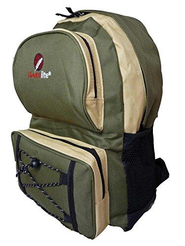 Roamlite RL31M Mochila ligera para niños, para carpetas tamaño A4, capacidad de 25 l, peso: 0,5 kg, 46 x 33 x 20, disponible en 5 colores , Green Yellow (negro) - RL31KhY