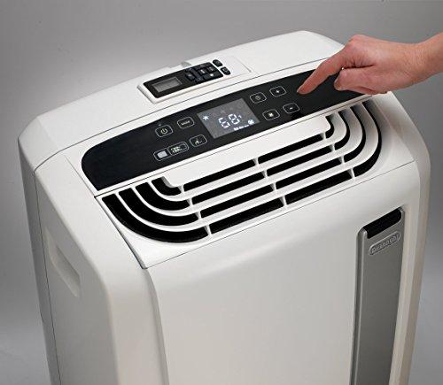 De'Longhi 3-in-1 Portable Air Conditioner, Dehumidifier & Fan + Arctic Whisper Quiet Mode, 450 sq ft, Large, 12000 BTU, White, PACAN120EW