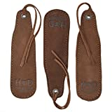 Hide & Drink, Rustic Leather Bookmark/Bookwork & Travel Essentials Handmade Includes 101 Year Warranty :: Swayze Suede