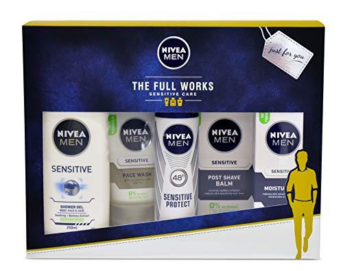 Nivea Men Geschenkset The Full Works, Geschenkset für Ihn mit 5 Artikeln