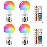 MELPO 5W LED Color Changing Light Bulb with Remote Control, E26/E27 40 Watt