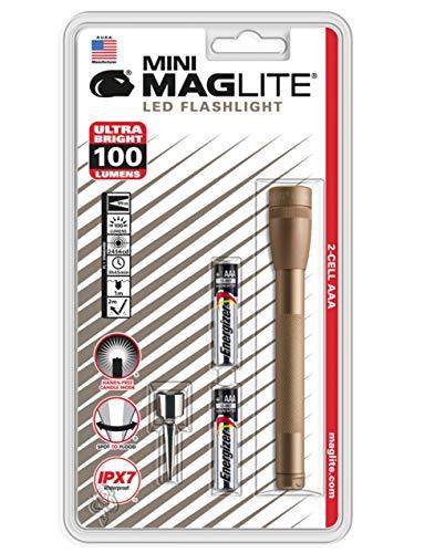Maglite 100 lumens Gold LED Mini Flashlight AAA Battery