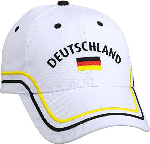 Blackshirt Company Deutschland Schildmütze Fußball Fan Basecap Farbe Weiss