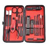 FeiFei156 Conjunto De Belleza De Acero Inoxidable Conjunto De Cuchillos De Uñas Herramientas De Uñas De Cuidado Personal Rojo