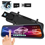 ThiEYE Mirror Dash Cam 1080P Dual Dash Camera Front and Rear with Waterproof