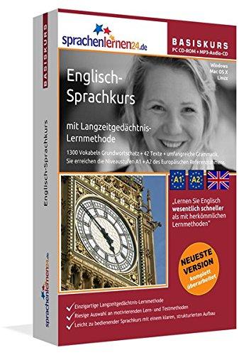 Sprachenlernen24.de Englisch-Basis-Sprachkurs: PC CD-ROM für Windows/Linux/Mac OS X + MP3-Audio-CD für MP3-Player. Englisch lernen für Anfänger.