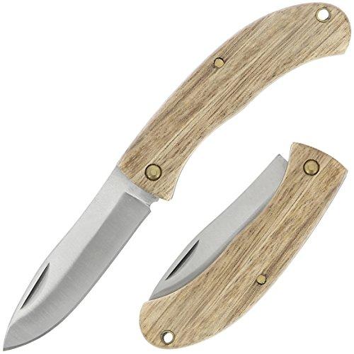 G8DS® Taschenmesser Jagdmesser Pocket Outdoor Jagd Camping Wandern (Oak)