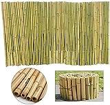 KANULAN Cercas Decorativas Pantalla de privacidad de jardín Pérgola de Sombra Aspecto Natural Cubierta de flejes Terraza Patio Deck Cercas de bambú 100% naturalCerca de Jardín