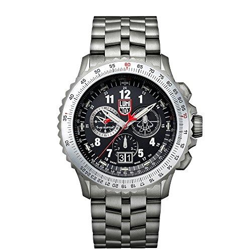 Luminox Men's Watch F-22 Raptor 9241.M: 44mm Silver Case Black Display Flight Calculation...