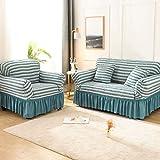 ASCV Asiento Funda de sofá elástica de Color sólido para Sala de Estar Fundas seccionales elásticas Impresas Funda de sofá en Forma de L A7 4 plazas