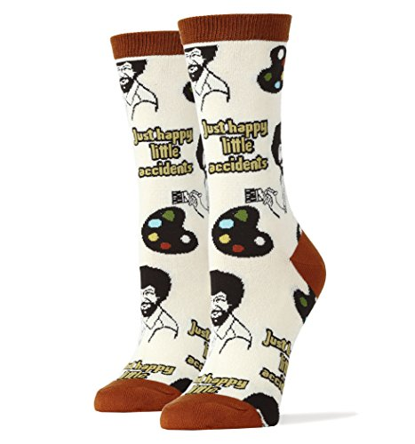 Oooh Yeah Socks Womens Luxury Combed Cotton Funny, Large, Happy Lil Accidents