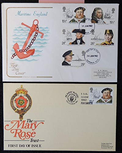 Great Britain FDC Cotswold (1) 1982 maritime heritage anchor henry viii mary rose ships first day cover royalty ships fair used insert included JandRStamps 127631
