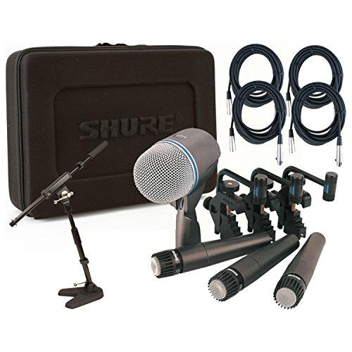 Shure DMK57-52 Drum Mic Kit w/(3) SM57 (1) Beta 52 (4) 20' XLR Cables, 1 Mini Bo