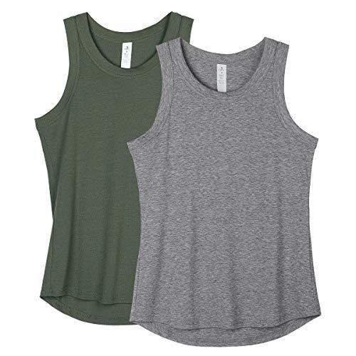 icyzone - Camisetas de entrenamiento para mujer (2 unidades) - - Small