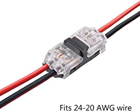 Low Voltage Electronic connectors - Pack of 12 Quick Wire Extension connector I type 2 Pin,Solderless Rock Solid Connector,Dual Way Straight Connection for any equipments 20/22 AWG Cable,By Brightfour