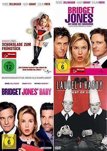 Bridget Jones Collection - Schokolade zum Frühstück + Am Rande des Wahnsinns + Baby + Laurel & Hardy - Best of 3 [4er DVD-Set]