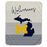 Pegasus Sports NCAA Ultra Fleece State Stripe Blanket- Michigan Wolverines