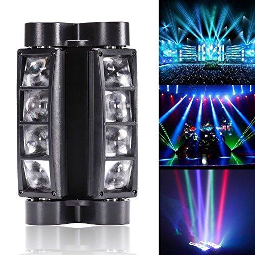 U`King Spider Moving Head Licht DMX512 lichttechnik mit 8x3W RGBW 4 Farbe LED Lampe für DJ Disco Hochzeit Weihnachten Halloween Party