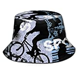 Yearinspace Sombrero de pescador niño en bicicleta BMX moda plegable portátil Sun Caps Unisex al aire libre para jardinería protección UV