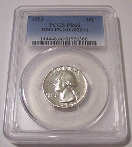 1953 Washington DDO Variety FS-101 Proof Quarter PR66 PCGS