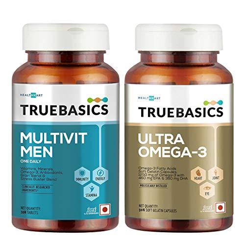TrueBasics Multivit Men & Ultra Omega Combo