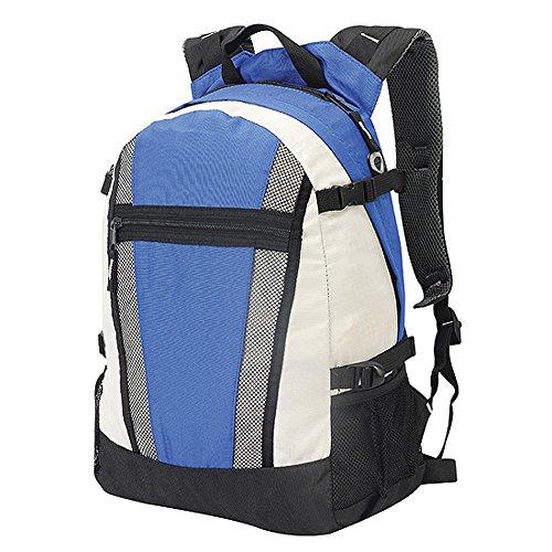 Shugon - Sac à dos sport étudiant loisirs randonnée réf. 1295-650.38 - bleu roi et blanc - 20L - mixte homme/femme
