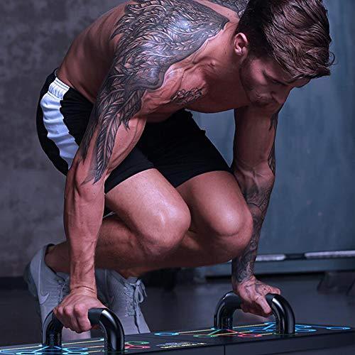 Men's Strength Training Equipment, Weights Set for Home Gym,Portable,Pushup Handles for Floor, 16 Fitness Exercises for Men and Women (Black)