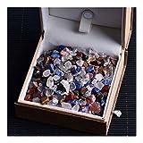 Z-LIANG Natural aumentó 500 Piezas de Cristal de Cuarzo Blanco 50g Muestra de minerales de la Roca Mini se Puede Utilizar for la decoración del hogar de Piedra Acuario artesanías curativas
