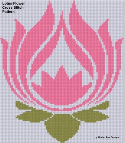 Lotus Flower Cross Stitch Pattern (English Edition)