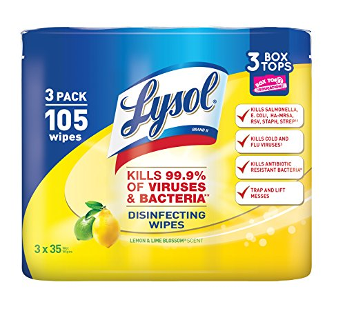 Lysol Disinfecting Wipes, Lemon and Lime Blossom, 35 Count (Pack of 3)