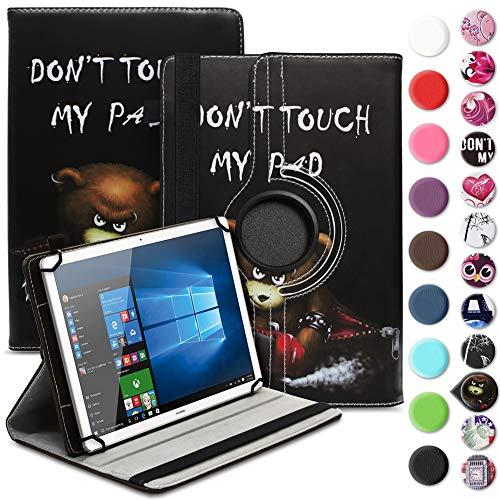 UC-Express Tablet Tasche kompatibel für Wortmann Terra PAD 1004 Universal Schutzhülle aus Kunstleder Hülle Tasche Standfunktion 360° Drehbar Cover Case, Farbe:Motiv 9