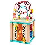 Xhtoe Denkspiel Puzzle Beaded Holzspielzeug Intellectual Spielzeug-Baby-Early Education Hexahedron Lernspielzeug, Geschenke for 1-12 Jungen für Mädchen Jungen