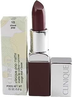Clinique Pop Matte Lip Colour + Primer - 10 Clove Pop, 3.9g/0.13oz