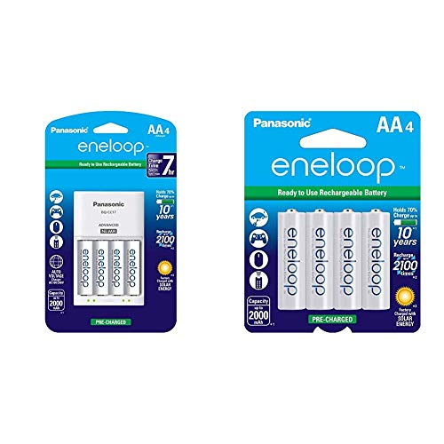 Panasonic Best Rechargeable Batteries AA with Quick Charger!