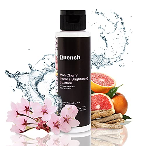 Quench Botanics Mon Cherry Intense Brightening Face Essence   Preps Skin for Skincare Routine to Follow   with Cherry Blossom, Grapefruit, Pearl, Licorice Root and Glycerin (100ml)