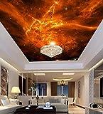 Personalizzabile tetto dipinto pittura murale soggiorno camera da letto soffitto decorazione murale tessuto non tessuto-Il tramonto è come il fuoco
